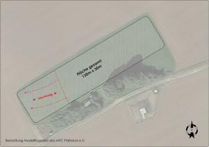 Bemaßung Modellflugplatz MFC Pößneck e.V.