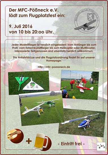 Flyer Flugplatzfest MFC-PN e.V. 2016